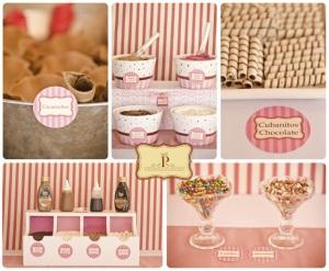 mesa dulce de helados